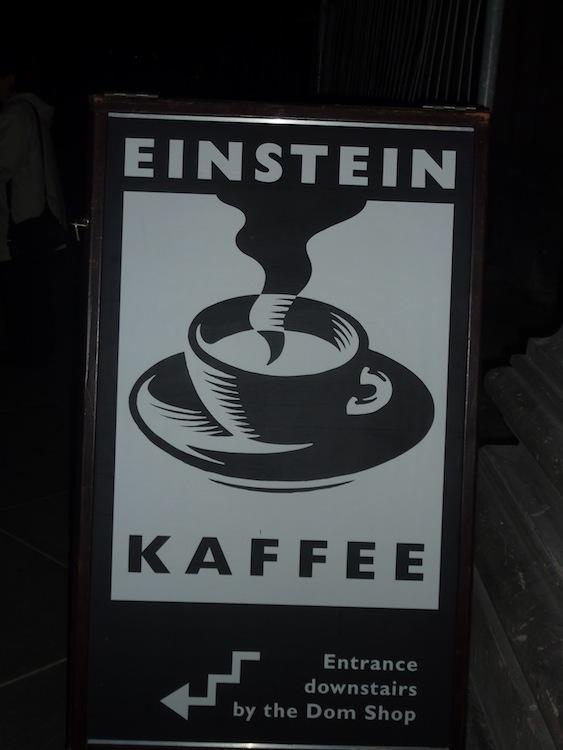 Einstein koffie te koop in Berliner Dom!